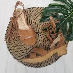 Sam Edelman Jenna ankle wrap sandal 5.5